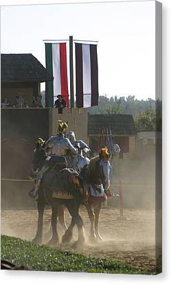 Maryland Renaissance Festival - Jousting And Sword Fighting - 1212176 Canvas Print by DC Photographer