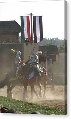 Maryland Renaissance Festival - Jousting And Sword Fighting - 1212177 Canvas Print by DC Photographer