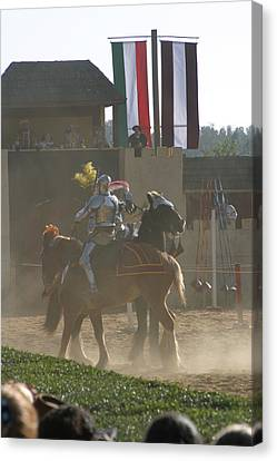 Maryland Renaissance Festival - Jousting And Sword Fighting - 1212178 Canvas Print by DC Photographer