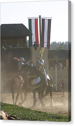 Maryland Renaissance Festival - Jousting And Sword Fighting - 1212179 Canvas Print by DC Photographer