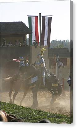 Maryland Renaissance Festival - Jousting And Sword Fighting - 1212180 Canvas Print by DC Photographer