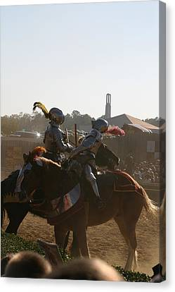Maryland Renaissance Festival - Jousting And Sword Fighting - 1212181 Canvas Print by DC Photographer