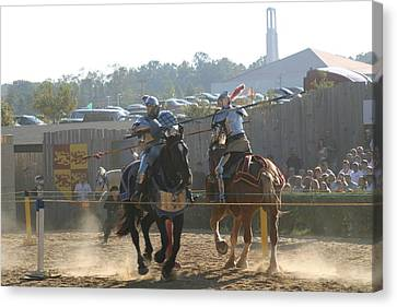 Maryland Renaissance Festival - Jousting And Sword Fighting - 1212188 Canvas Print