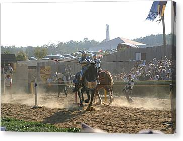 Maryland Renaissance Festival - Jousting And Sword Fighting - 1212193 Canvas Print by DC Photographer