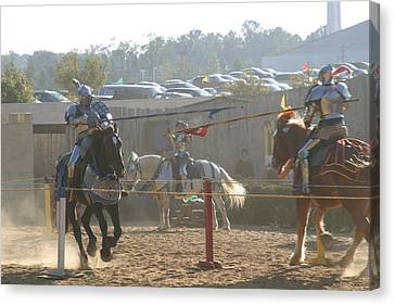 Maryland Renaissance Festival - Jousting And Sword Fighting - 1212196 Canvas Print by DC Photographer