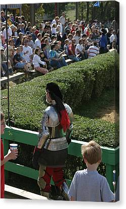 Maryland Renaissance Festival - Jousting And Sword Fighting - 1212198 Canvas Print by DC Photographer