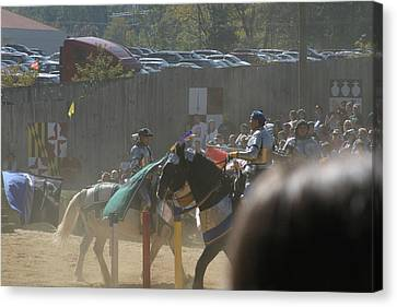 Maryland Renaissance Festival - Jousting And Sword Fighting - 1212202 Canvas Print by DC Photographer