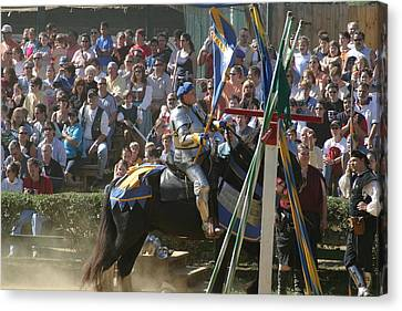 Maryland Renaissance Festival - Jousting And Sword Fighting - 1212207 Canvas Print by DC Photographer