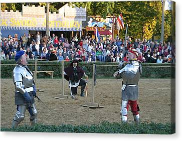 Performers Canvas Print - Maryland Renaissance Festival - Jousting And Sword Fighting - 121239 by DC Photographer