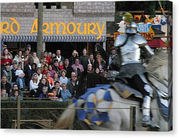 Maryland Renaissance Festival - Jousting And Sword Fighting - 121256 Canvas Print by DC Photographer