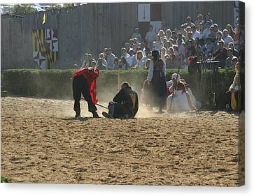 Costume Canvas Print - Maryland Renaissance Festival - Jousting And Sword Fighting - 121269 by DC Photographer