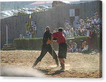 Maryland Renaissance Festival - Jousting And Sword Fighting - 121295 Canvas Print by DC Photographer