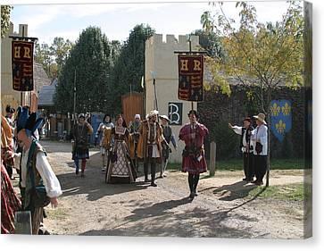 Maryland Renaissance Festival - Kings Entrance - 121213 Canvas Print by DC Photographer