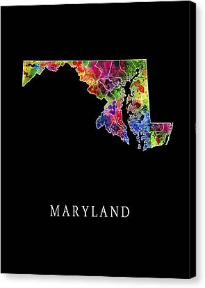 Maryland State Canvas Print by Daniel Hagerman
