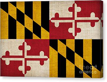 Maryland Canvas Print - Maryland State Flag by Pixel Chimp