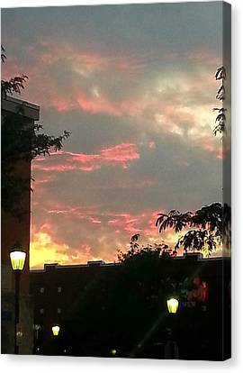 Canvas Print featuring the photograph Maryland Sunset Sky by Joetta Beauford