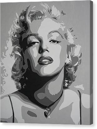 Tribute To Marilyn Monroe Canvas Print by Bitten Kari