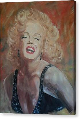 Marylin Monroe Canvas Print by Chris Lambert