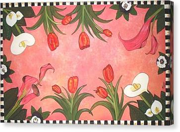 Canvas Print featuring the painting Marys Garden by Cindy Micklos