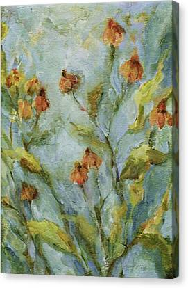 Canvas Print featuring the painting Mary's Garden by Mary Wolf