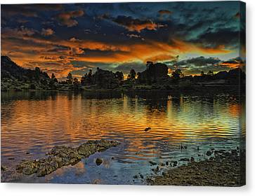 Mary's Lake Sunrise Canvas Print by Tom Wilbert