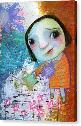 Mary's Quite Contrary Canvas Print by Shirley Dawson