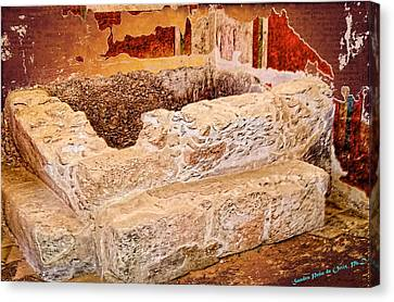 Masada Bathing Quarters Built By King Herod The Great Canvas Print