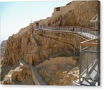 Masada. Israel. The Bridge To The Top Of Masada. Canvas Print