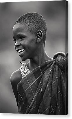 Canvas Print featuring the photograph Masai #2 by Antonio Jorge Nunes