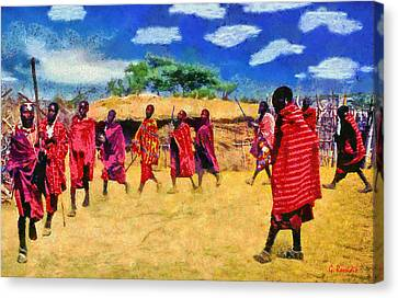 Masai Dance Canvas Print by George Rossidis