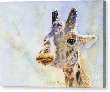 Canvas Print featuring the painting Masai Giraffe by Bonnie Rinier