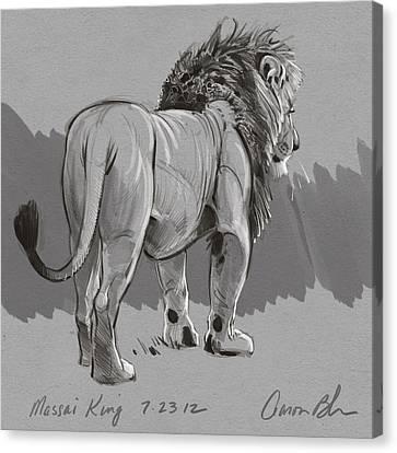 Masai King Canvas Print by Aaron Blaise