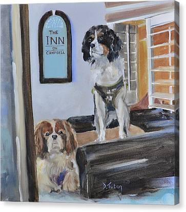 Mascots Of The Inn Canvas Print by Donna Tuten