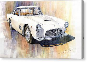 Vintage Car Canvas Print - Maserati 3500gt Coupe by Yuriy  Shevchuk