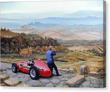 Maserati A6 Gcm, 2001 Oil On Canvas Canvas Print by Trevor Neal