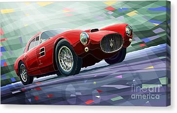 1954 Canvas Print - Maserati A6gcs Berlinetta By Pininfarina 1954 by Yuriy Shevchuk