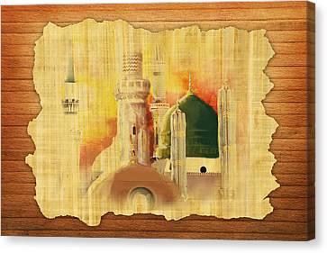 Masjid E Nabwi 02 Canvas Print by Catf