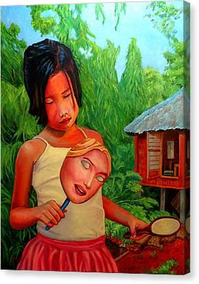Filipina Canvas Print - Mask by Michael Jadach
