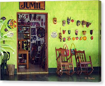 mask shop in Mexico Canvas Print by Haleh Mahbod
