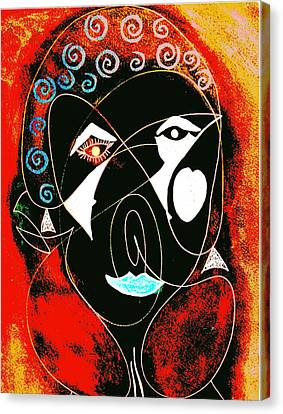 Masked Abstract Canvas Print by Carolyn Repka