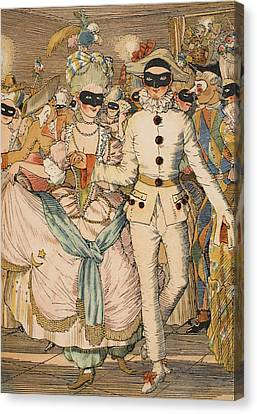 Masked Ball Canvas Print
