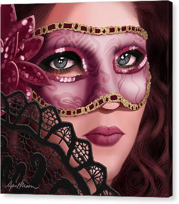 Masked II Canvas Print by April Moen