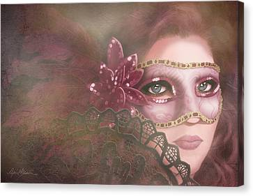 Masked IIi Canvas Print by April Moen