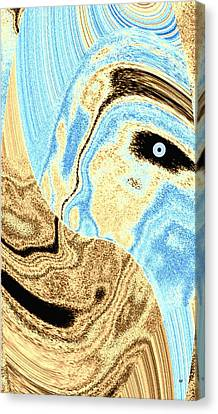 Masked- Man Abstract Canvas Print by Will Borden