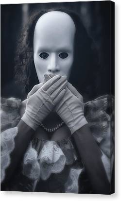 Masked Woman Canvas Print by Joana Kruse
