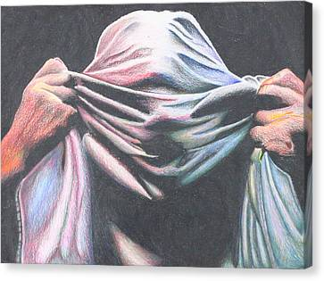 Masking The Hurt Canvas Print by Hunter Martin