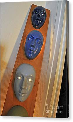 Masks Arragement Canvas Print by Sami Sarkis