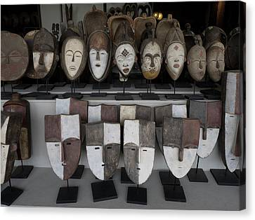Masks For Sale At Large Craft Store Canvas Print by Panoramic Images
