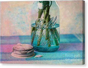 Mason Jar Vase Canvas Print by Kay Pickens