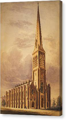 Masonry Church Circa 1850 Canvas Print by Aged Pixel